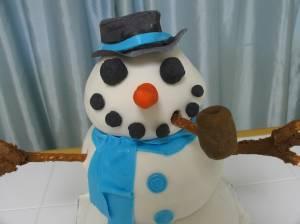 Snowman Cake, Christmas Cake